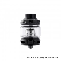 Authentic Wotofo Flow Pro SubTank Sub Ohm Tank Clearomizer - Black, Stainless Steel, 5ml, 25mm Diameter, 0.18 Ohm