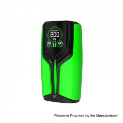 Authentic Wotofo Flux 200W VW Variable Wattage Box Mod - Green, Zinc Alloy, 5~200W, 2 x 18650