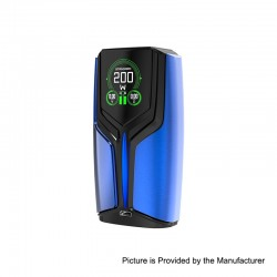 Authentic Wotofo Flux 200W VW Variable Wattage Box Mod - Blue, Zinc Alloy, 5~200W, 2 x 18650