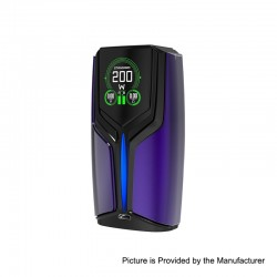 Authentic Wotofo Flux 200W VW Variable Wattage Box Mod - Dark Blue, Zinc Alloy, 5~200W, 2 x 18650