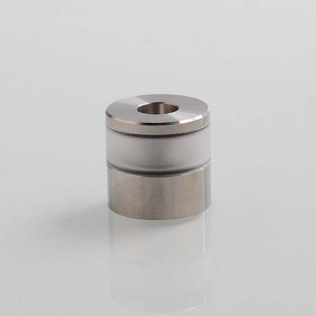 Replacement Tank Tube + Top Lid + Chimney for Dvarw V2 Style MTL RTA - Silver, 316 Stainless Steel + PC, 2ml