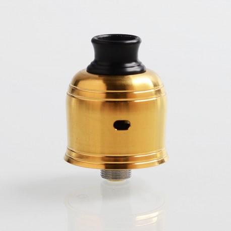 Authentic Hotcig Castle RDA Rebuildable Dripping Atomizer w/ BF Pin - Gold, Stainless Steel, 22mm Diameter