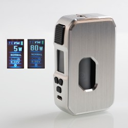 Authentic HCigar Aurora 80W TC VW Variable Wattage Squonk Box Mod - Silver, Aluminum, 5~80W, 1 x 18650 / 20700 / 21700, 7ml
