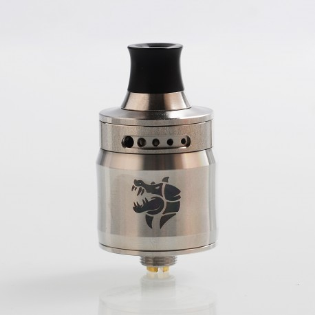 Authentic GeekVape Ammit MTL RDA Rebuildable Dripping Atomizer w/ BF Pin - Silver, Stainless Steel, 22mm Diameter
