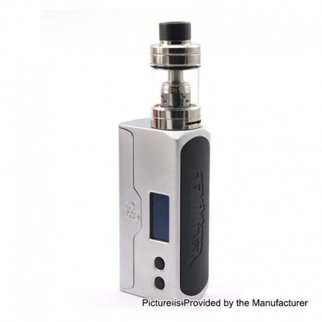 Authentic Advken Dominator 100W TC VW Box Mod + Tank Starter Kit w/ RBA Deck - Silver, 5~100W, 1 x 18650 / 20700 / 21700, 4.5ml