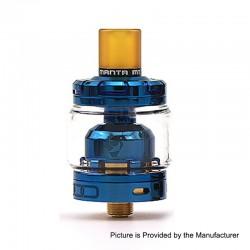 Authentic Advken Manta MTL RTA Rebuildable Tank Atomizer - Blue, Stainless Steel, 3ml, 24mm Diameter
