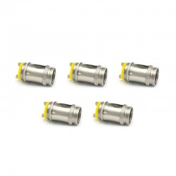 Authentic THC Replacement Clapton Nichrome Coil Head for Pyer Pipe Starter Kit - 1.0 Ohm (5 PCS)