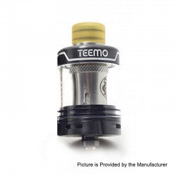 Authentic Thunderhead Creations THC Teemo Clearomizer - Black, Stainless Steel, 0.55ohm (25W), 22mm Diameter