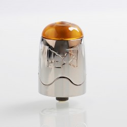 Authentic Serisvape Bomb UFO V1.5 RDTA Rebuildable Dripping Tank Atomizer - Silver, Stainless Steel, 2ml, 25mm Diameter