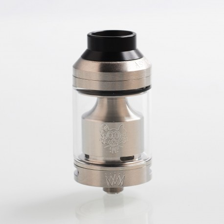 Kindbright Sherman V3 Style RTA Rebuildable Tank Atomizer - Silver, 316 Stainless Steel, 4ml, 25mm Diameter