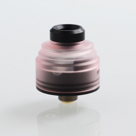 Authentic GAS Mods G.R.1 GR1 RDA Rebuildable Dripping Atomizer w/ BF Pin - Pink, Stainless Steel + PMMA, 22mm Diameter