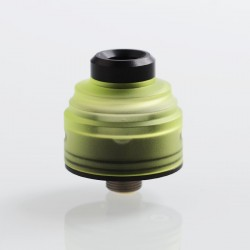 Authentic GAS Mods G.R.1 GR1 RDA Rebuildable Dripping Atomizer w/ BF Pin - Green, Stainless Steel + PMMA, 22mm Diameter