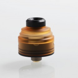 Authentic GAS Mods G.R.1 GR1 RDA Rebuildable Dripping Atomizer w/ BF Pin - Amber, Stainless Steel + PMMA, 22mm Diameter