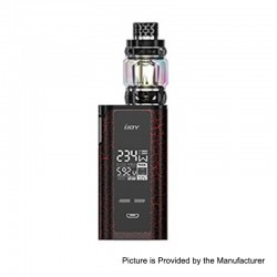 Authentic IJOY Captain PD270 234W TC VW Box Mod + Diamond Tank Kit - Cracks Red + Black, 2 x 18650 / 20700, 0.15 Ohm, 5.5ml