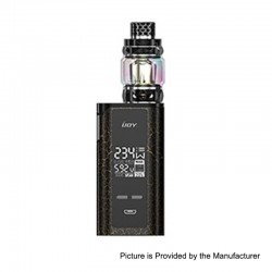 Authentic IJOY Captain PD270 234W TC VW Box Mod + Diamond Tank Kit - Cracks Gold + Black, 2 x 18650 / 20700, 0.15 Ohm, 5.5ml