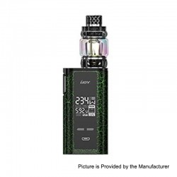 Authentic IJOY Captain PD270 234W TC VW Box Mod + Diamond Tank Kit - Cracks Green + Black, 2 x 18650 / 20700, 0.15 Ohm, 5.5ml