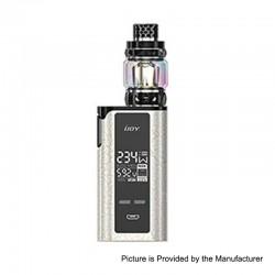 Authentic IJOY Captain PD270 234W TC VW Box Mod + Diamond Tank Kit - Cracks Gold White, 2 x 18650 / 20700, 0.15 Ohm, 5.5ml