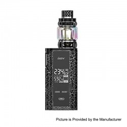 Authentic IJOY Captain PD270 234W TC VW Box Mod + Diamond Tank Kit - Cracks White Black, 2 x 18650 / 20700, 0.15 Ohm, 5.5ml