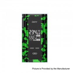 Authentic IJOY Captain PD270 234W TC VW Variable Wattage Box Mod - Green + Black Camouflage, 2 x 18650 / 20700