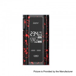 Authentic IJOY Captain PD270 234W TC VW Variable Wattage Box Mod - Black + Red Spray, 2 x 18650 / 20700