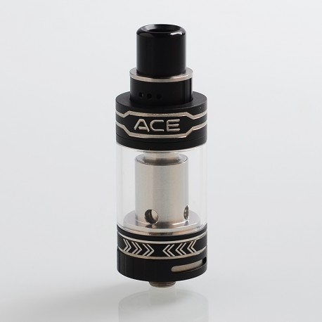 Authentic OBS ACE Sub Ohm Tank Clearomizer - Black, Stainless Steel, 4.5ml, 0.45 Ohm, 22mm Diameter
