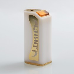 Lokos Style Hybrid Mechanical Box Mod - White, POM + Brass, 1 x 18650