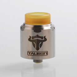 Authentic ThunderHead Creations THC Tauren RDA Rebuildable Dripping Atomizer w/ BF Pin - Silver, Stainless Steel, 24mm Diameter