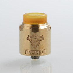 Authentic ThunderHead Creations THC Tauren RDA Rebuildable Dripping Atomizer w/ BF Pin - Brass, Brass, 24mm Diameter