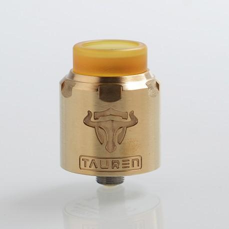 Authentic ThunderHead Creations THC Tauren RDA Rebuildable Dripping Atomizer w/ BF Pin - Brass, Brass, 24mm Diameter