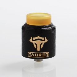 Authentic ThunderHead Creations THC Tauren RDA Rebuildable Dripping Atomizer w/ BF Pin - Black, Brass, 24mm Diameter