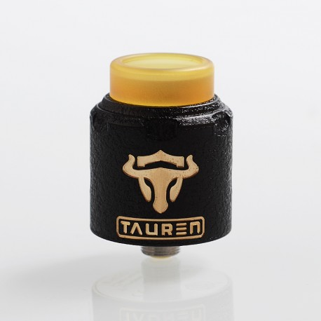 Authentic ThunderHead Creations THC Tauren RDA Rebuildable Dripping Atomizer w/ BF Pin - Black, Brass, 24mm Diameter
