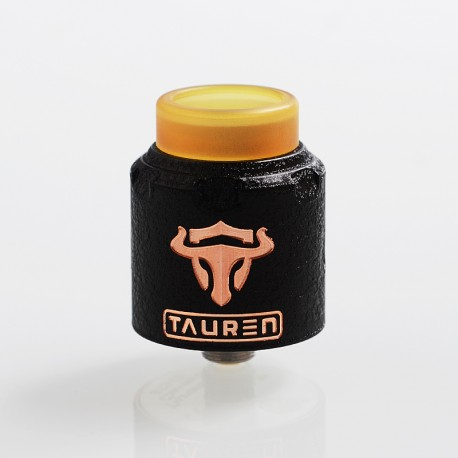 Authentic ThunderHead Creations THC Tauren RDA Rebuildable Dripping Atomizer w/ BF Pin - Black, Copper, 24mm Diameter