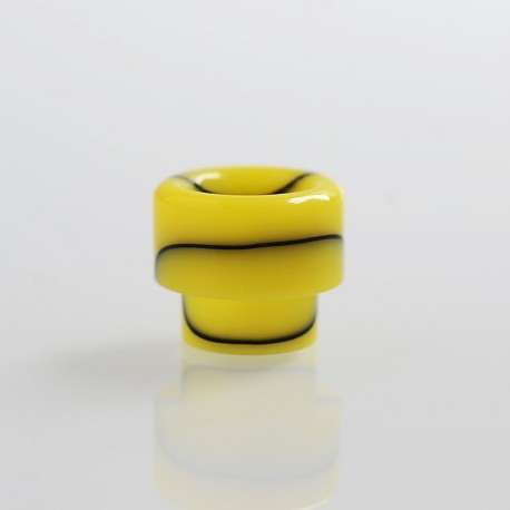 810 Replacement Drip Tip for Apocalypse Style RDA - Yellow, Resin, 14.6mm