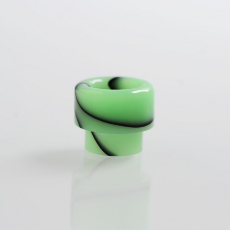 810 Replacement Drip Tip for Apocalypse Style RDA - Green, Resin, 14.6mm