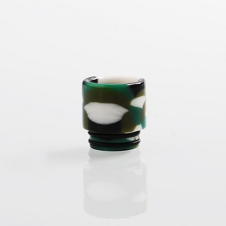 810 Replacement Drip Tip for TFV8 / TFV12 Tank / 528 Goon / Kennedy / Reload RDA - Green, Resin, 17.3mm