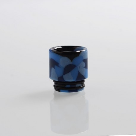 810 Replacement Drip Tip for TFV8 / TFV12 Tank / 528 Goon / Kennedy / Reload RDA - Blue, Resin, 17.3mm