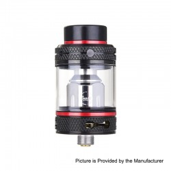 Authentic CoilART Mage SubTank Clearomizer - Black Red, Stainless Steel, 0.2 Ohm, 4ml, 24mm Diameter
