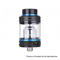 Authentic CoilART Mage SubTank Clearomizer - Black Blue, Stainless Steel, 0.2 Ohm, 4ml, 24mm Diameter