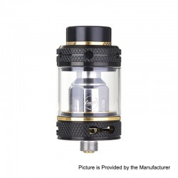 Authentic CoilART Mage SubTank Clearomizer - Black Gold, Stainless Steel, 0.2 Ohm, 4ml, 24mm Diameter