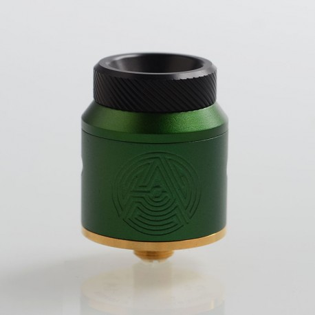 Authentic Advken Artha RDA Rebuildable Dripping Atomizer w/ BF Pin - Green, Stainless Steel, 24mm Diameter