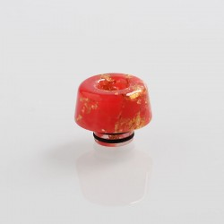 510 Replacement Drip Tip for RDA / RTA / Sub Ohm Tank Atomizer - Red + Gold, Resin, 13mm