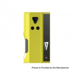 Authentic Desire Cut 108W TC VW Variable Wattage Squonk Box Mod - Yellow, Zinc Alloy, 5~108W, 1 x 18650 / 21700, 7ml