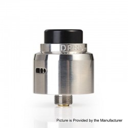 Authentic CoilART DPRO Mini RDA Rebuildable Dripping Atomizer w/ BF Pin - Silver, Stainless Steel, 22mm Diameter