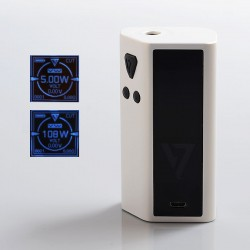 Authentic Desire Cut 108W TC VW Variable Wattage Squonk Box Mod - White, Zinc Alloy, 5~108W, 1 x 18650 / 21700, 7ml