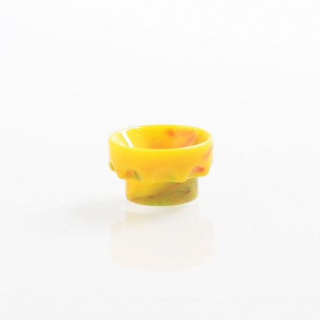810 Wide Bore Drip Tip for Kryten / Apocalypse GEN 2 / Battle RDA - Yellow, Resin, 11mm