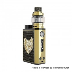 Authentic Sigelei Snowwolf Mini 100W TC VW Variable Wattage Box Mod + Tank Kit - Black, Zinc Alloy, 1 x 21700