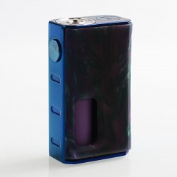 Authentic Wismec Luxotic 100W Squonk Box Mod - Purple Swirled Resin, 7.5ml, 1 x 18650