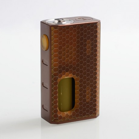 Authentic Wismec Luxotic 100W Squonk Box Mod - Bronze Honeycomb, 7.5ml, 1 x 18650