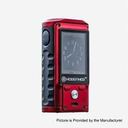 Authentic Modefined Draco 200W TC VW Variable Wattage Box Mod - Red, Zinc Alloy + G10, 5~200W, 2 x 18650