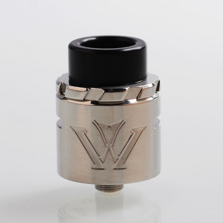 Authentic VXV X RDA Rebuildable Dripping Atomizer w/ BF Pin - Polished Silver, Stainless Steel, 24mm Diameter